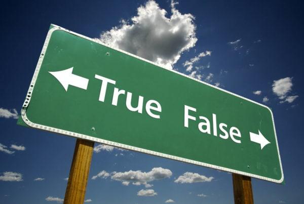 True, False road sign for novated lease myths